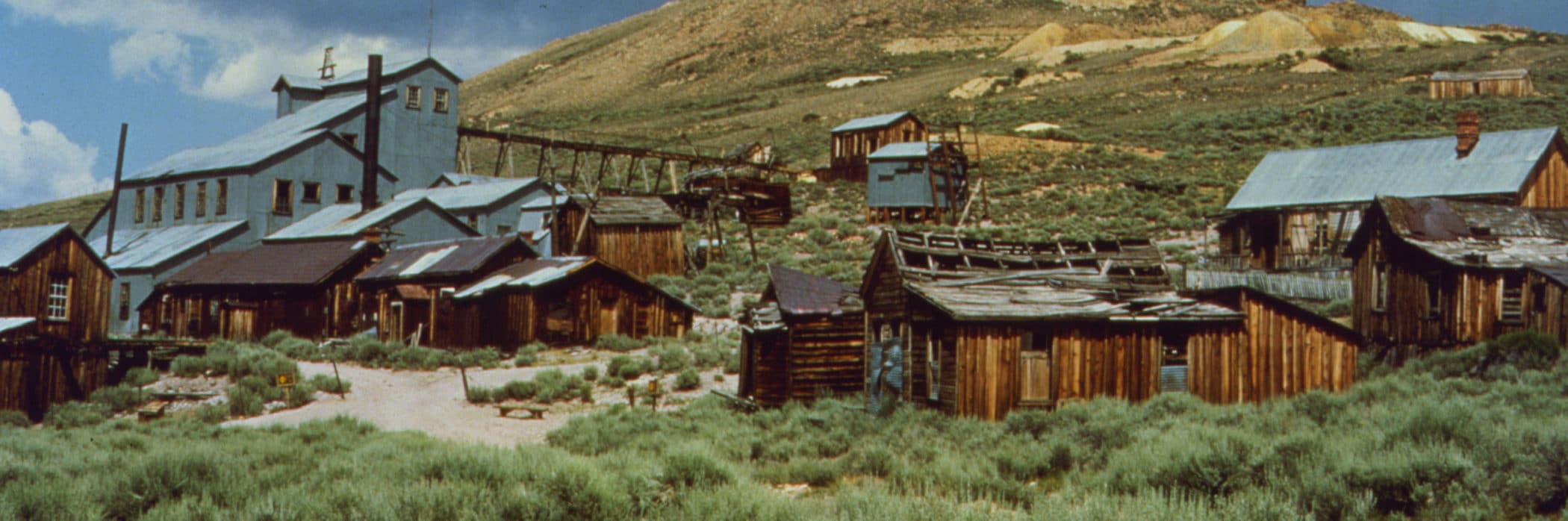 Buildings and mining infrastructure at Bodie State Historic Park.